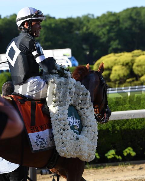 Sir Winston wins the 2019 Belmont Stakes<br /> Coglianese Photos/Viola Jasko