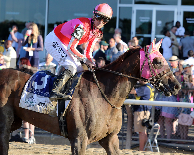 Master Fencer with Julien Leparoux after 151st Running of the Belmont Stakes (GI) at Belmont Park on June 8, 2019. Photo By: Chad B. Harmon