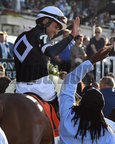 Sir Winston wins the Belmont Stakes Saturday, June 8, 2019 at Belmont Park. Photo: Coglianese Photos/Susie Raisher