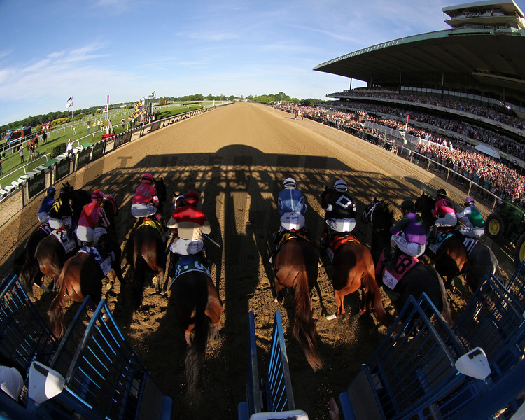 The start of the 151st Running of the Belmont Stakes (GI) at Belmont Park on June 8, 2019. Photo By: Chad B. Harmon