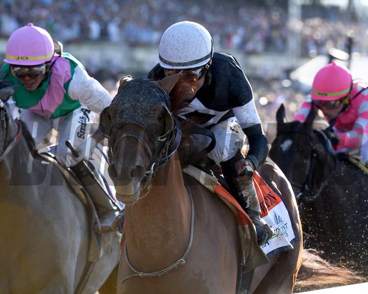 Sir Winston wins the 2019 Belmont Stakes<br /> Coglianese Photos/Adam Mooshian
