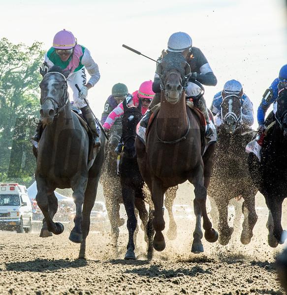 Sir Winston ridden by jockey Joel Rosario wins the 151st running of the Belmont Stakes held Saturday June 8, 2019 at Belmont Park in Elmont, N.Y.  Photo by Skip Dickstein/Tim Lanahan