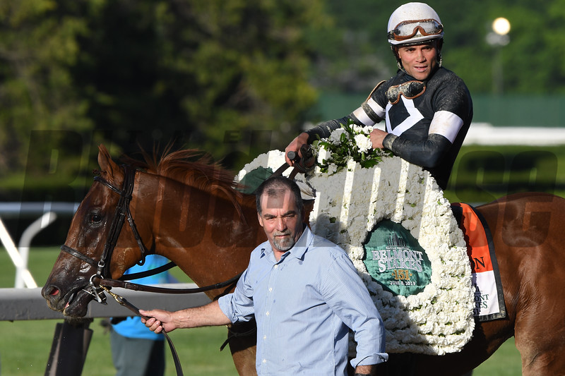 Sir Winston wins the 2019 Belmont Stakes<br /> Coglianese Photos/Hugh Ducey