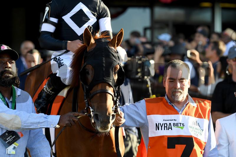 Sir Winston wins the 2019 Belmont Stakes<br /> Coglianese Photos/Derbe Glass