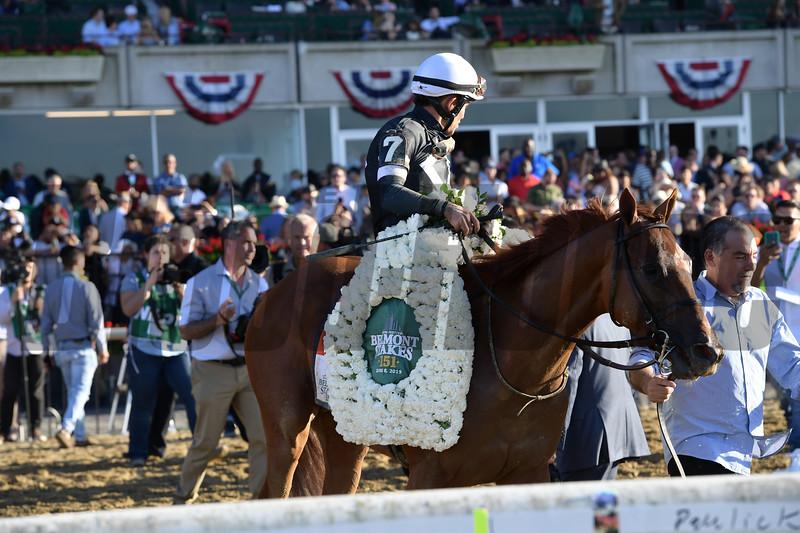Sir Winston wins the 2019 Belmont Stakes<br /> Coglianese Photos/Joe Labozzetta
