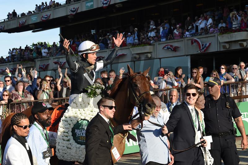 Sir Winston wins the 2019 Belmont Stakes<br /> Coglianese Photos/Brittlan Wall