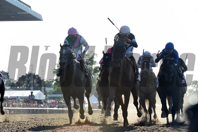 Sir Winston wins the 2019 Belmont Stakes<br /> Coglianese Photos/Adam Coglianese