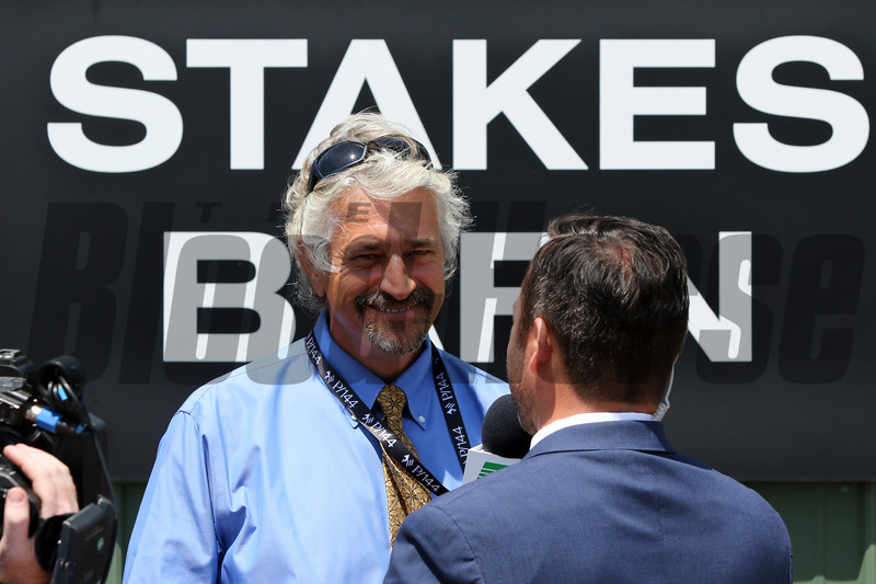 Trainer Steve Asmussen at Pimlico on May 17, 2019. Photo By: Chad B. Harmon