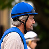 Trainer Steve Asmussen heads to the track Thursday May 2, 2019 at Churchill Downs in Louisville, K.Y.  Photo by Skip Dickstein