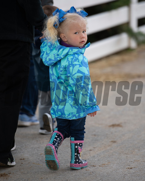 Barn area fashion. Morning scenes at Churchill Downs during Derby week 2019  April 29, 2019 in Louisville,  Ky.