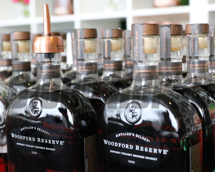 Woodford Reserve bottles at Churchill Downs on May 3, 2019. Photo By: Chad B. Harmon