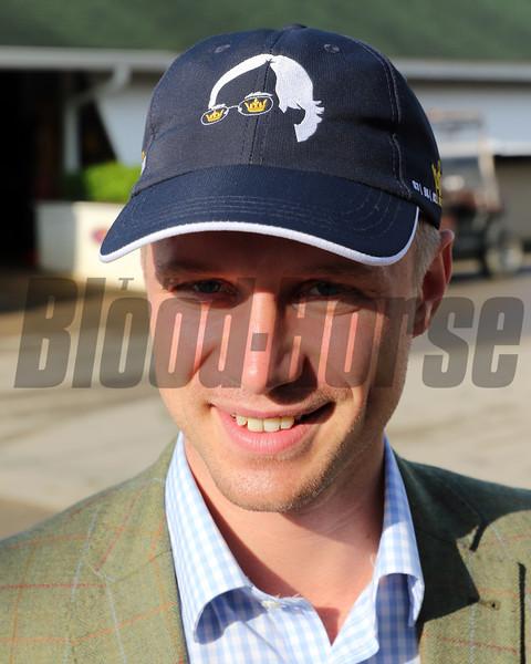 Bob Baffert triple crown hat at Churchill Downs on May 2, 2019. Photo By: Chad B. Harmon