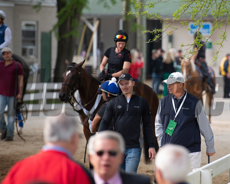 Scene with Elliott Walden and his son. Morning scenes at Churchill Downs during Derby week 2019  April 30, 2019 in Louisville,  Ky.