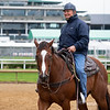 Bill Mott - Morning - Churchill Downs - 042819. Photo: Anne M. Eberhardt