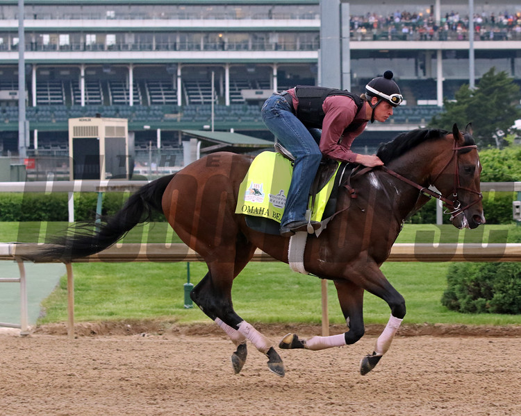 Omaha Beach on the track at Churchill Downs on April 30, 2019. Photo By: Chad B. Harmon