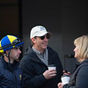 Agent Doug Bredar (center) with Florent Geroux, left, and his wife Caton Bredar. Morning scenes at Churchill Downs during Derby week, April 27, 2019 in Louisville,  Ky. Photo: Anne M. Eberhardt