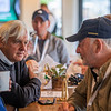 Bob baffert speaks with Jack Wolf in the Keeneland Tent at Churchill Downs Wednesday May 1, 2019 in Louisville, KY.<br /> Photo by Skip Dickstein
