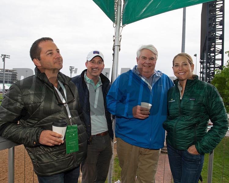 l-r, David Ingordo, Chip McGaughey, Mike Kline, Jill McCully at 2019 Bluegrass Breakfast at Churchill Downs Tuesday, April 30, 2019. Photo: Anne M. Eberhardt