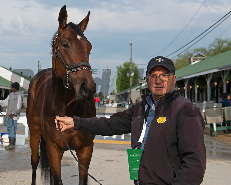 Liora with Wayne Catalano. Morning scenes at Churchill Downs during Derby week 2019  April 29, 2019 in Louisville,  Ky.