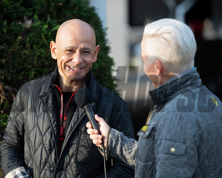 Mike Smith with Zoe Cadman for XBTV. Morning scenes at Churchill Downs during Derby week 2019  April 29, 2019 in Louisville,  Ky.