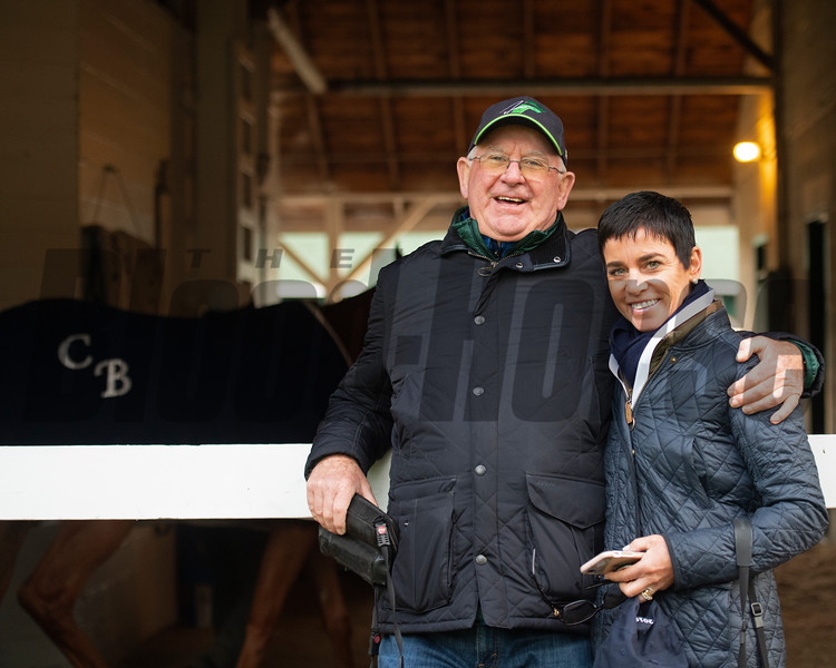 Mike and Mary Ryan - Morning - Churchill Downs - 042919. Photo: Anne M. Eberhardt