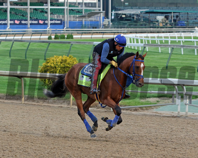 By My Standards on the track at Churchill Downs on May 1, 2019. Photo By: Chad B. Harmon