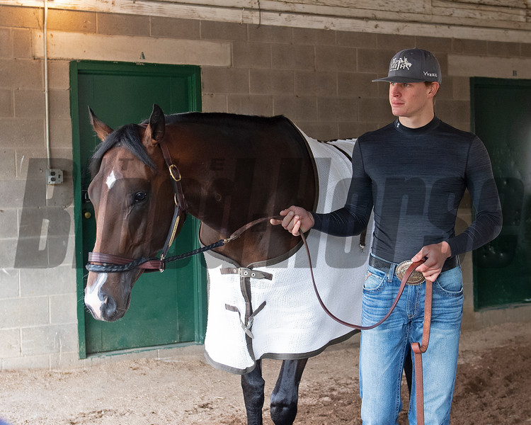 Omaha Beach with Taylor Cambra. Morning scenes at Churchill Downs during Derby week 2019  April 29, 2019 in Louisville,  Ky.