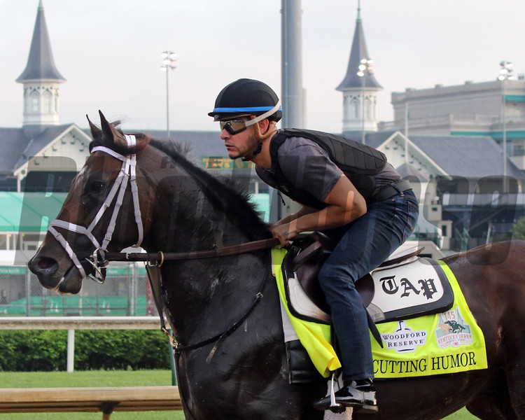 Cutting Humor on the track at Churchill Downs on May 2, 2019. Photo By: Chad B. Harmon