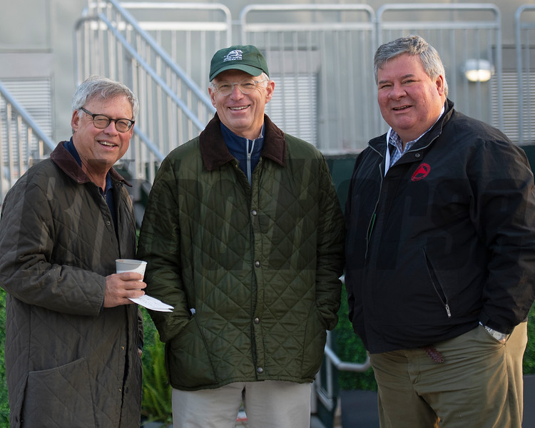 l-r, Rogers Beasley, Alex Rankin, Geoffrey Russell. Morning scenes at Churchill Downs during Derby week, April 27, 2019 in Louisville,  Ky. Photo: Anne M. Eberhardt