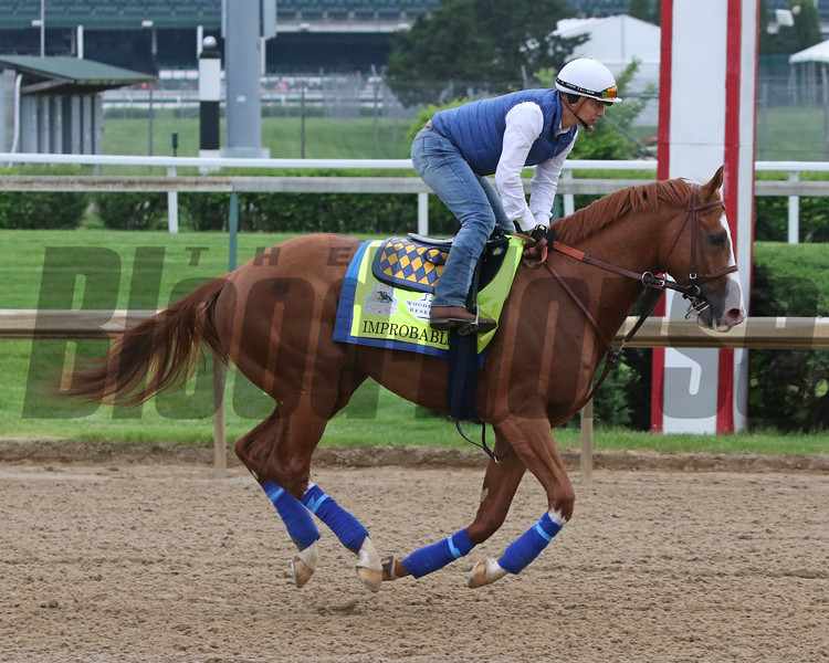 Improbable on the track at Churchill Downs on April 30, 2019. Photo By: Chad B. Harmon