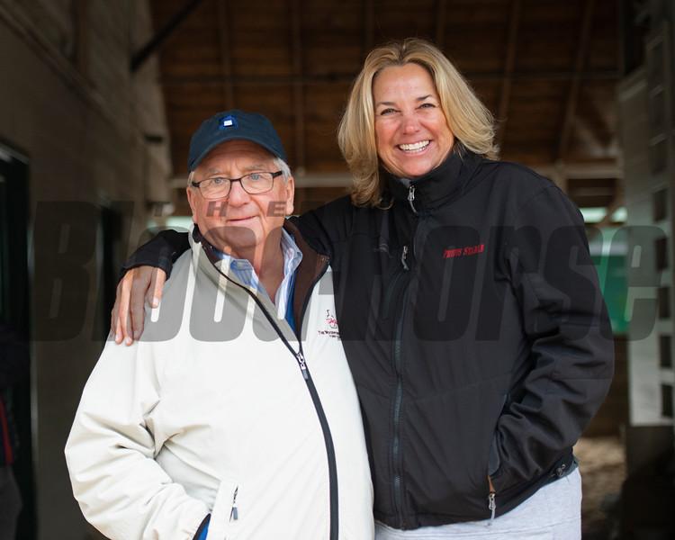 Shug and Alison McGaughey - Morning - Churchill Downs - 042819. Photo: Anne M. Eberhardt