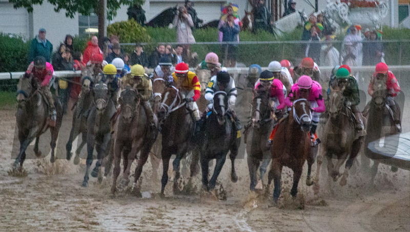 The field in the 145th Kentucky Derby Presented by Woodford Reserve comes battles around the third at Churchill Down. Country House with Flavien Prat aboard was declared the winner after Maximum Security was disqualified for interference on the far turn. Code of Honor placed second.