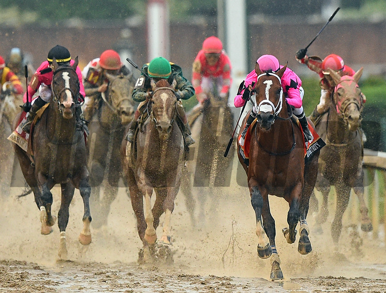 Maximum Security in the Kentucky Derby Saturday, May 4, 2019 at Churchill Downs. Photo: Rick Samuels