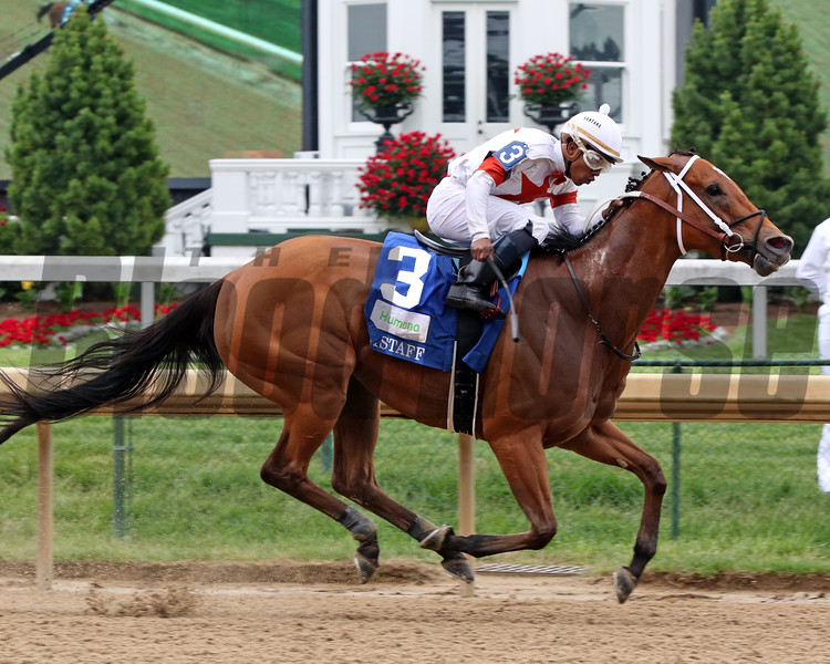 Mia Mischief wins the 33rd Running of the Humana Distaff (GI) at Churchill Downs on May 4, 2019. Photo: Chad B. Harmon
