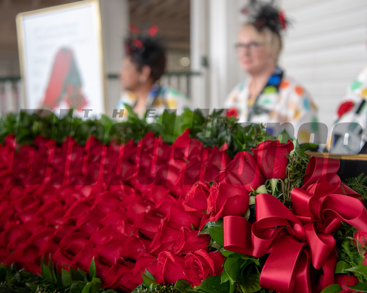 The Garland of Roses await the winner of the 145th Kentucky Derby winner.