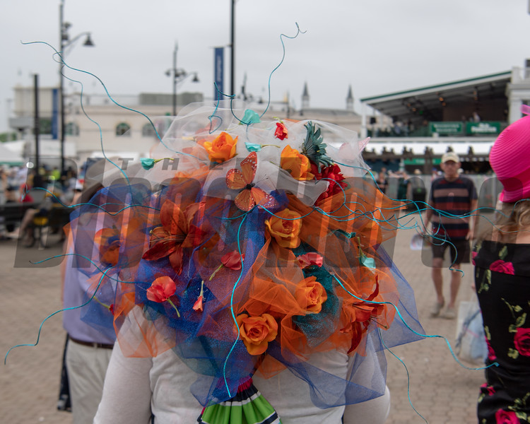 Derby Hats were bright and bold at Churchill Downs.