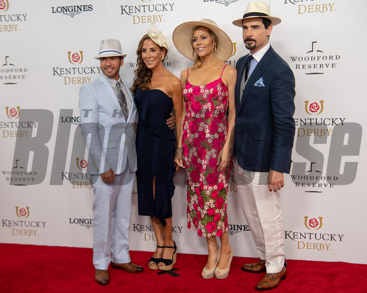 Howie and Leigh Dorough and Kristin and Kevin Richardson (Backstreet Boys)