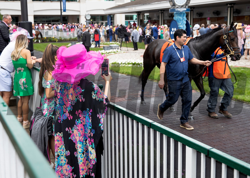 Fans on Oaks day at Churchill Downs on May 3rd, 2019.
