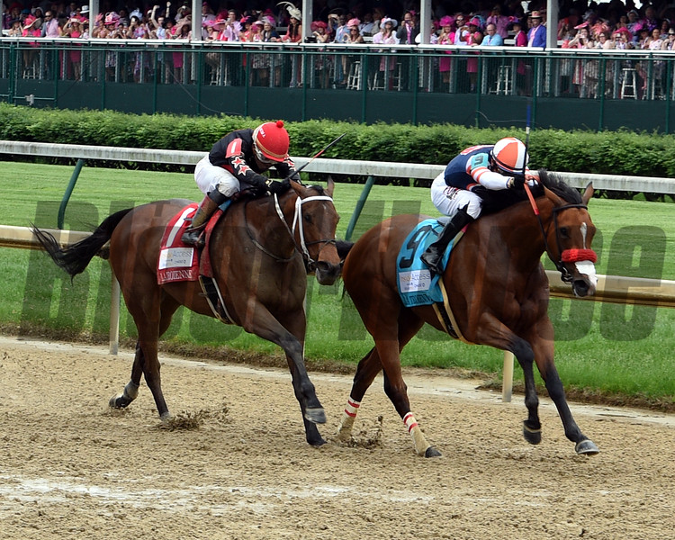 She's a Julie wins the La Troienne Stakes at Churchill Downs Friday, May 3, 2019. Photo: Dave Harmon