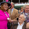 Sandi and Glenn Bromagen celebrate. Concrete Rose with Julien Leparoux wins the Edgewood (G3) at Churchill Downs during Derby week 2019  May 3, 2019 in Louisville,  Ky.