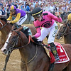 War of Will with Tyler Gaffalione win the 144th Running of the Preakness Stakes at Pimlico on May 18, 2019. Photo By: Chad B. Harmon