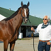 Bob Baffert with Authentic the morning after Authentic wins the Kentucky Derby (G1) at Churchill Downs, Louisville, KY on September 5, 2020. Photo: Anne M. Eberhardt