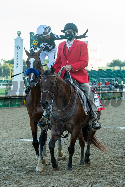 Authentic with John Velazquez wins the Kentucky Derby (G1) at Churchill Downs, Louisville, KY on September 5, 2020.