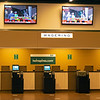 Empty wagering area as horses are in the paddocke. Scenes at Churchill Downs, Louisville, KY on September 5, 2020.