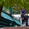 Liveyourbeastlife heads to the track at the Pimlico Race Course Friday Oct 2, 2020 in preparation for Saturday's 145th Preakness Stakes.in Baltimore, MD.  Photo by Skip Dickstein