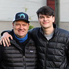 Doug O'Neill with his son Danny at Churchill Downs on April 26, 2021. Photo By: Chad B. Harmon