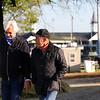 Bob Baffert and Gary Stevens at Churchill Downs on April 26, 2021. Photo By: Chad B. Harmon