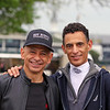 Mike Smith & John Velazquez at Churchill Downs on April 29, 2021. Photo By: Chad B. Harmon
