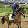 Mandaloun and Florent Geroux on the track at Churchill Downs on April 24, 2021. Photo By: Chad B. Harmon