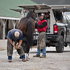 farrier scene<br /> Kentucky Derby and Oaks horses, people and scenes at Churchill Downs in Louisville, Ky., on April 24, 2021.